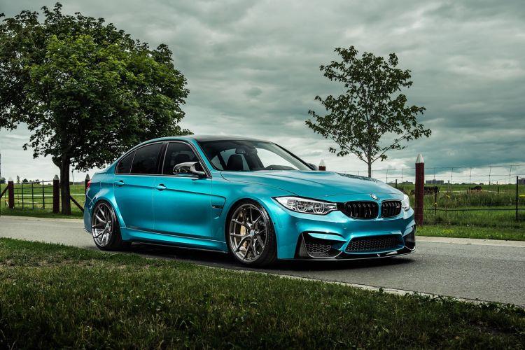 Atlantis Blue BMW M3 with HRE P101 Wheels