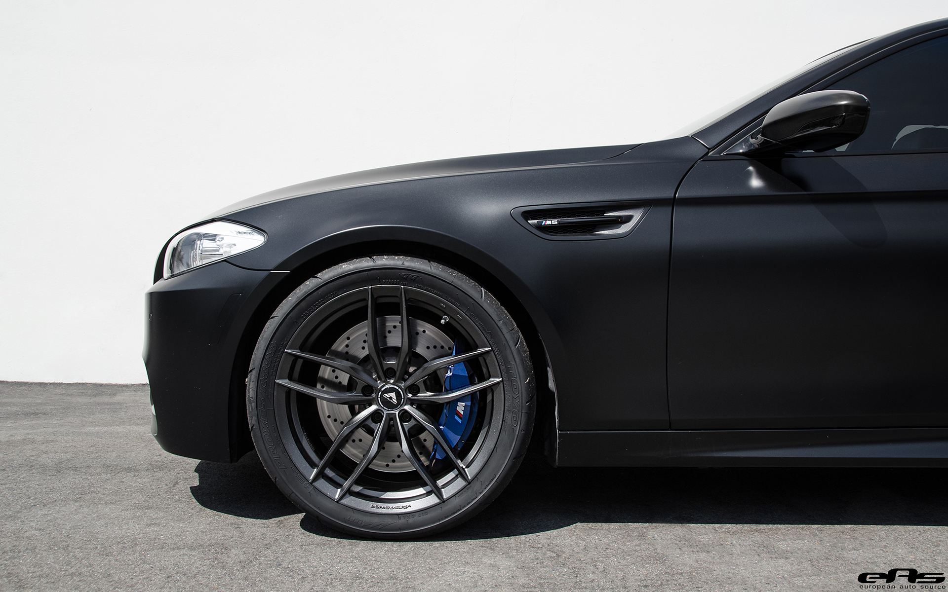 Matte Black Bmw F10 M5 With Vorsteiner Wheel Bmwblog