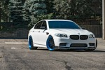 Alpine White BMW F10 M5 Gets A Set of Amazing Finished ADV.1 Wheels