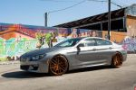 Space Gray Metallic BMW 6 Series Gran Coupe Gets Vossen Wheels