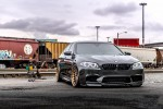 A Black Sapphire Metallic BMW M5 Gets ADV.1 Wheels And Vorsteiner Aero Parts Installed