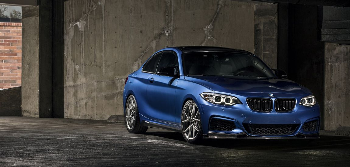 Estoril Blue BMW M240i With VMR Wheels (1)