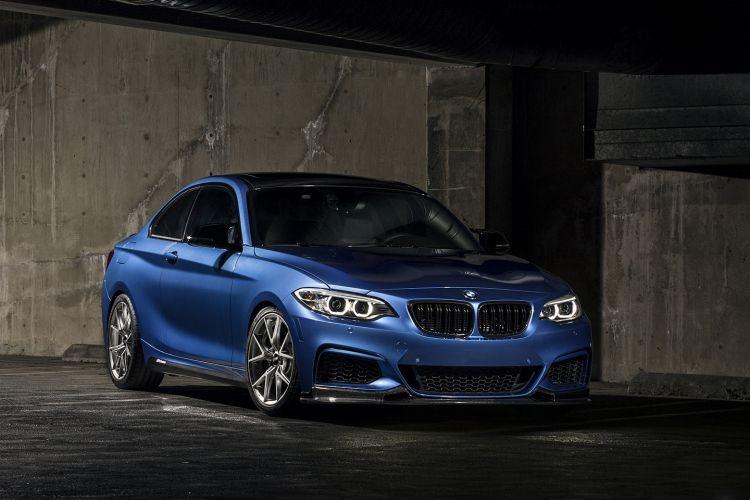 Estoril Blue BMW M240i With VMR Wheels (1)