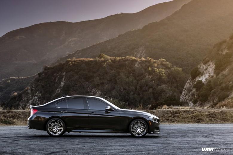 BMW F30 335i With VMR V801 Wheels In Mercury Black Metallic 5