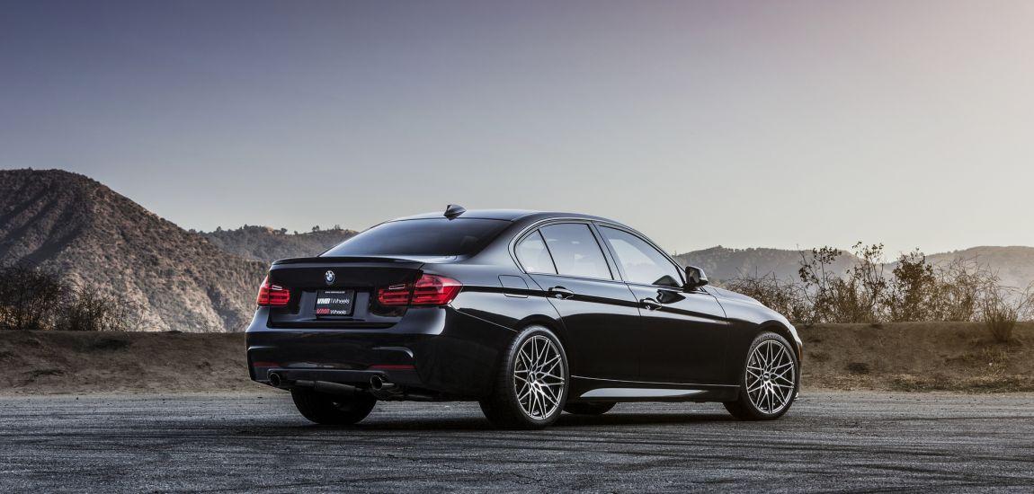 BMW F30 335i With VMR V801 Wheels In Mercury Black Metallic 8