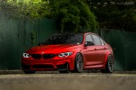 Matte Red BMW M3 With Brixton Forged Wheels