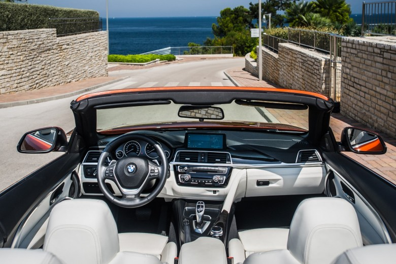 BMWBLOG - BMW TEST - BMW 430i Cabrio - Sunset Orange - interior (21)
