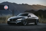 Matte Black BMW M4 With HRE Wheels Image 1