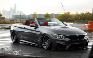 Mineral Gray BMW M4 Convertible With EDC Wheels & Carbon Fiber