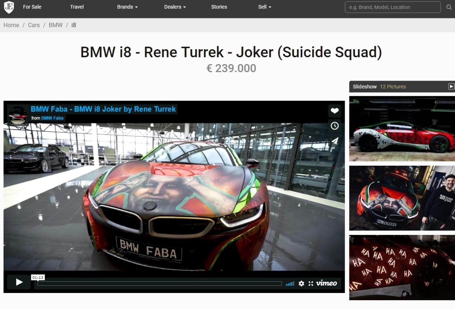 Cudovit Bmw I8 Z Joker Tematiko Za 239 Tisoc Evrov Bmwblog Bmwblog